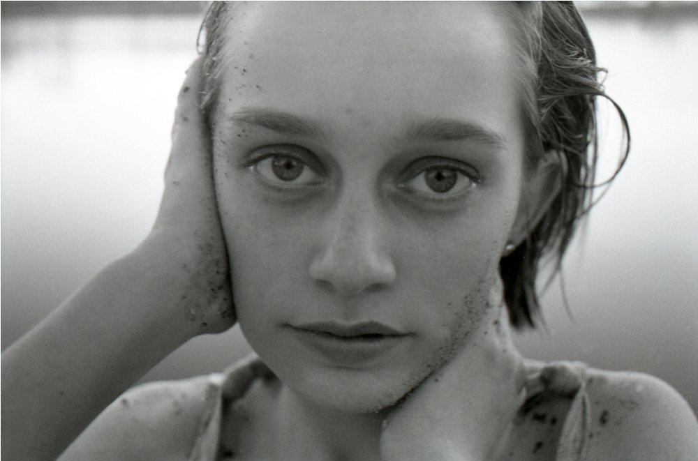 Crystal with sand at twelve, 1996