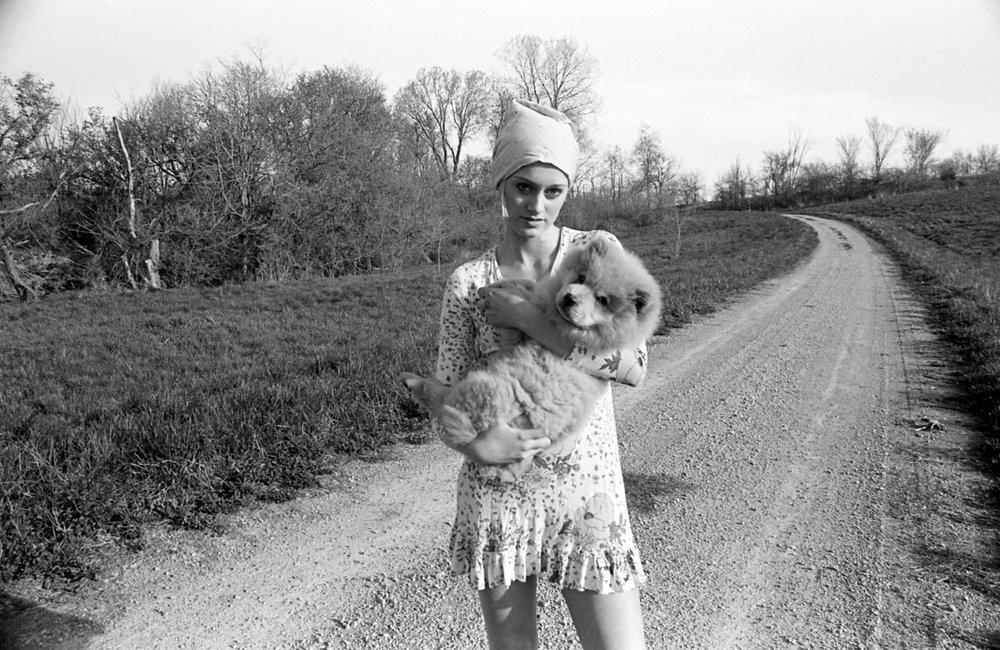 Crystal holding Zoe, 2001