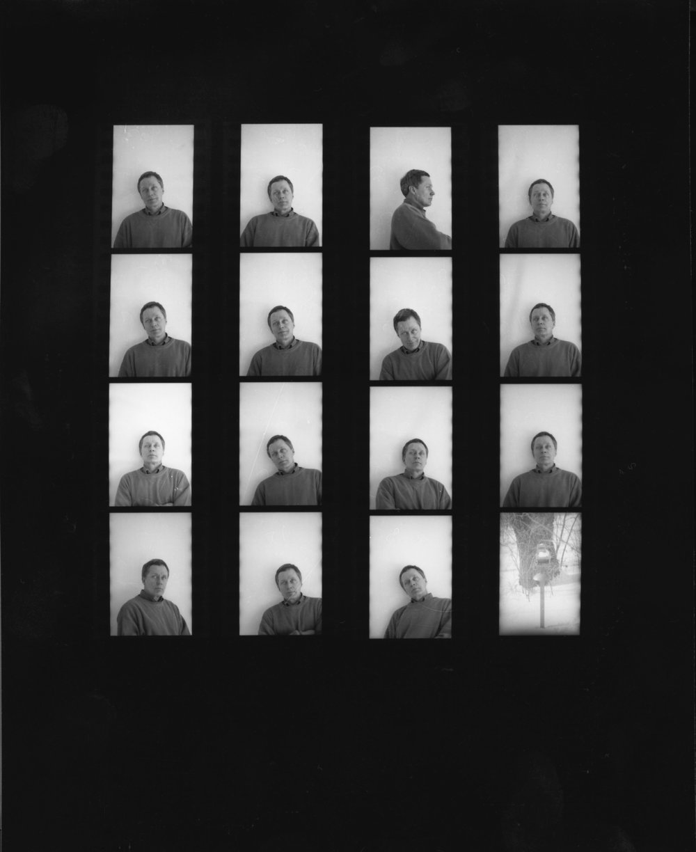 Found film roll of self portraits, taken by Oscar, date unknown