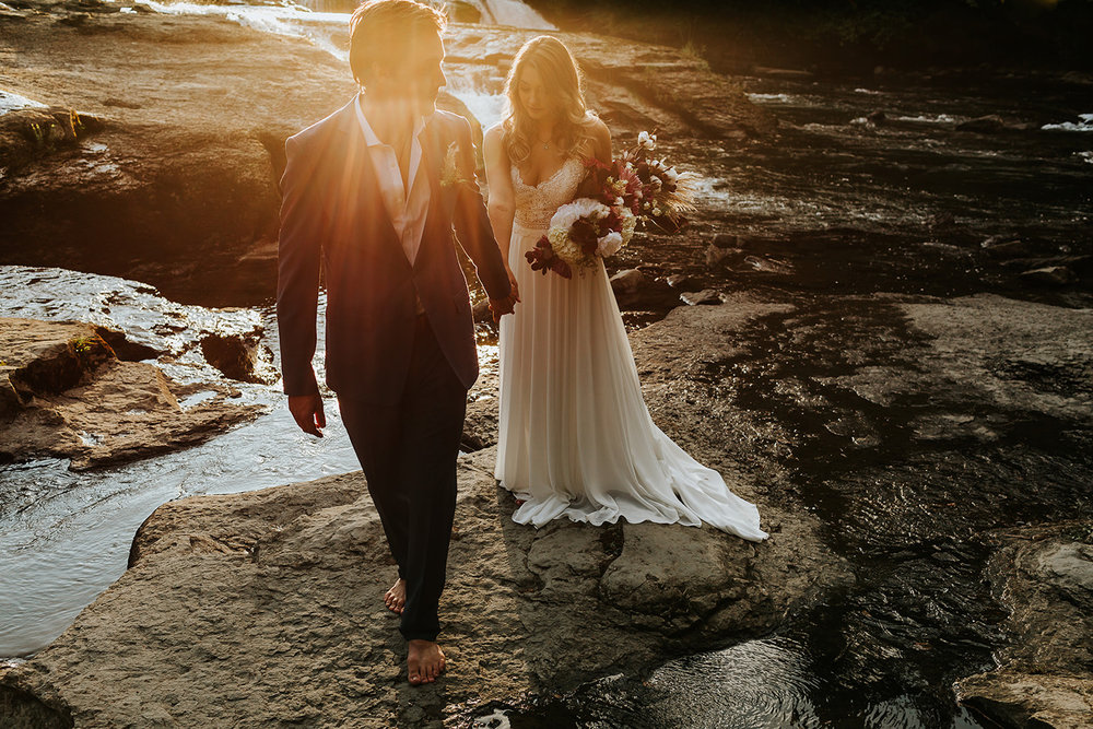 Love at Stotan Falls - West Coast Photography  Vancouver Island wedding planning