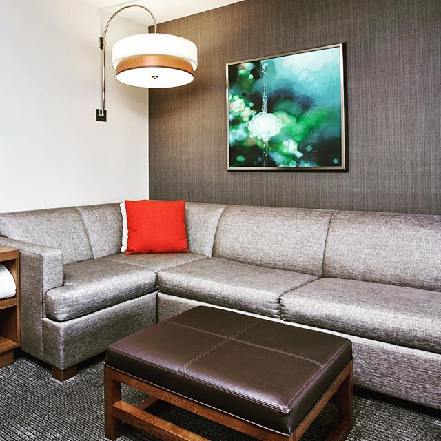 Have a last minute addition to your trip? Have no worries, every Hyatt Place room has a cozy corner with a sofa bed! #hyatthideaway #betterthanarollaway #lovethisplace