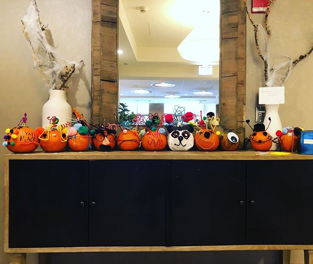 The Hyatt Place team broke into groups at our monthly luncheon to decorate pumpkins to get into the Halloween spirit. Which is your favorite! DM or comment your favorite from 1-11 starting on the left! #hallowinners #passionworkshere #spooktacular