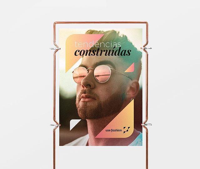 Identidade visual que criamos para a @usefashion ganhando vida. Veja mais em usefashion.com ⠀⠀⠀⠀⠀⠀⠀⠀⠀ #branding #visualidentity #logodesign #usefashion #graphicdesign