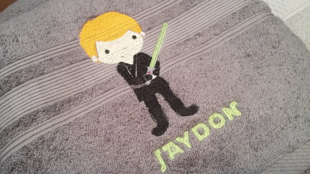 Star Wars Monogrammed Bath towel