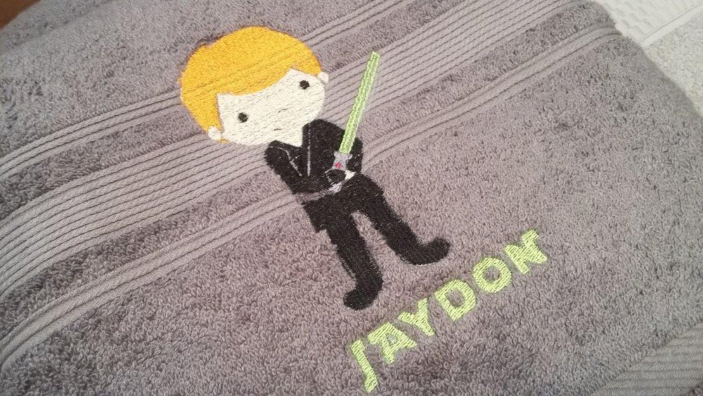 Star Wars Monogrammed Bath towel