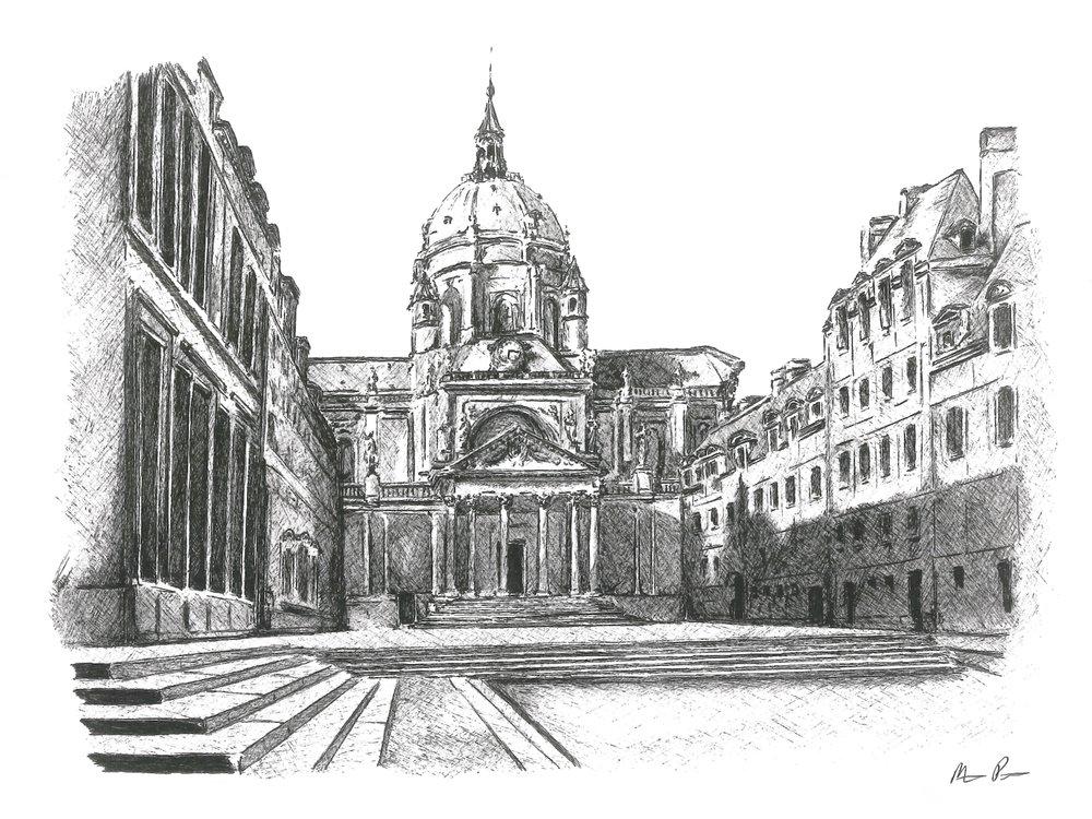 University of Paris - Framed17'' x 14''N / A