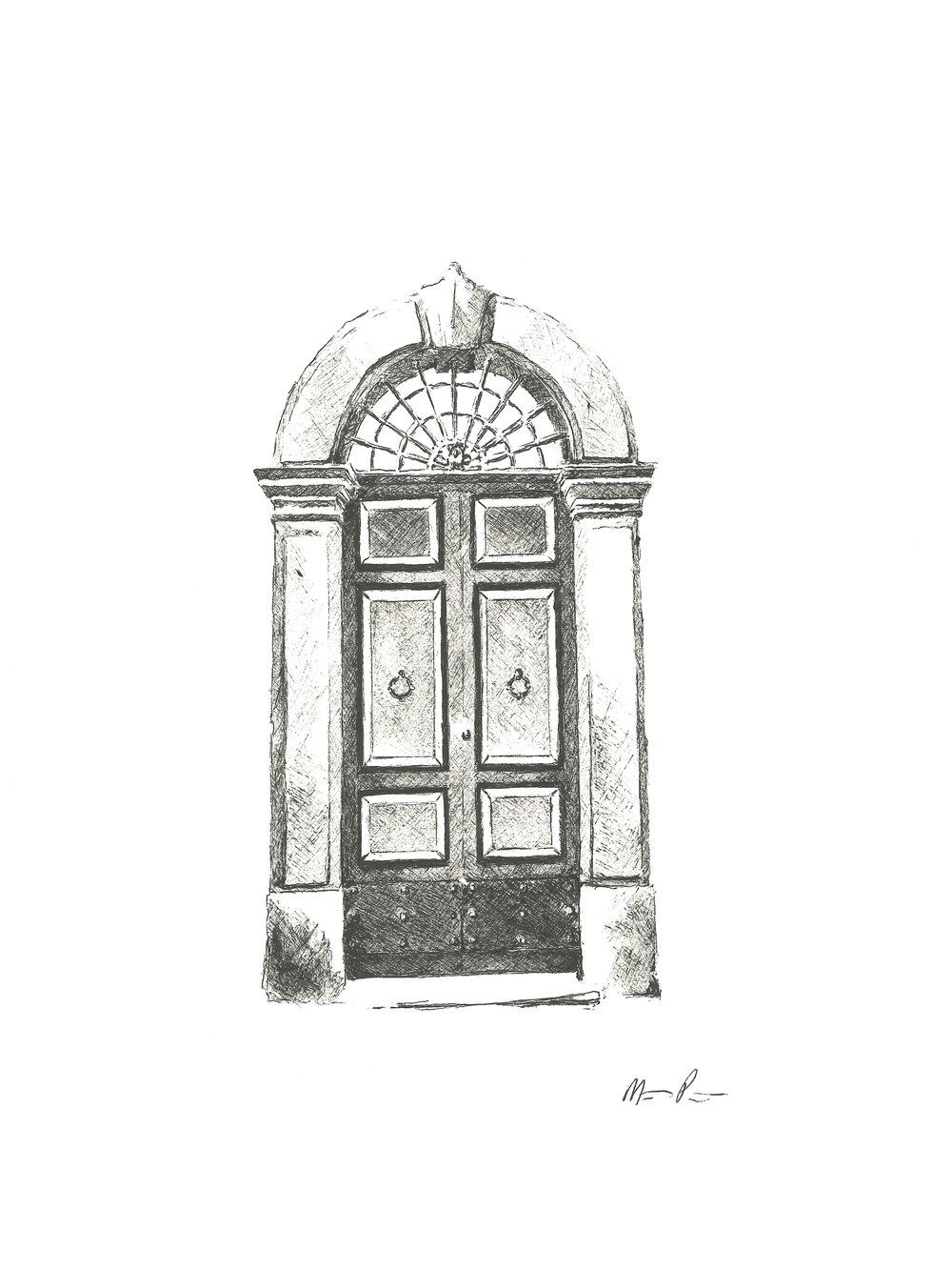 Roman Door - 9'' x 12''$150