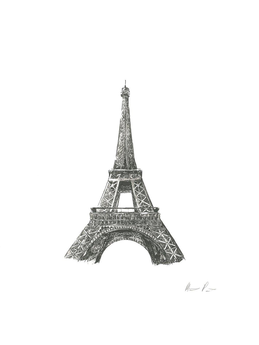 Eiffel Tower - 9'' x 12''$100