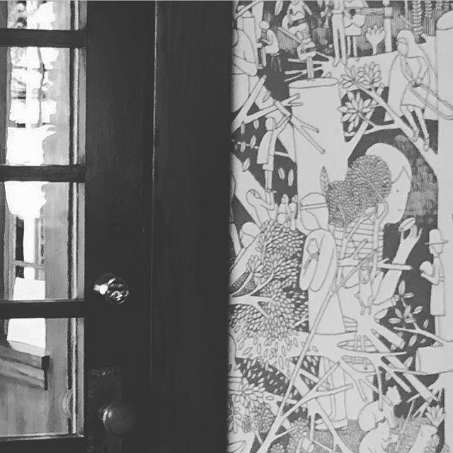 I am crazy for this wallpaper. #craftsmanhome #interiordesign