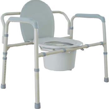 Bariatric commode - This commode is designed with extra wide, snap-on seat, removable push button backrest and durable steel frame. It offers consumers the strength and comfort they need and suits the needs of bariatric individuals weighing up to 650 lbs.$300.00