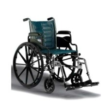 WHEELCHAIR -  Standard wheelchair with removable arms and standard footrests included, 250 lb weight capacity$350.00     INVACARE TREX2 18 IN OR 20 IN