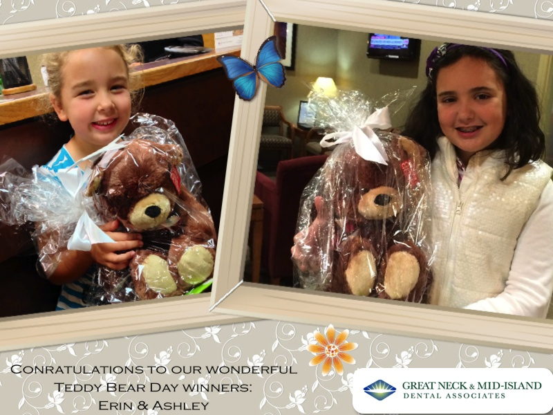 Teddy Bear Day winners of Great Neck & Mid-Island Dental Associates