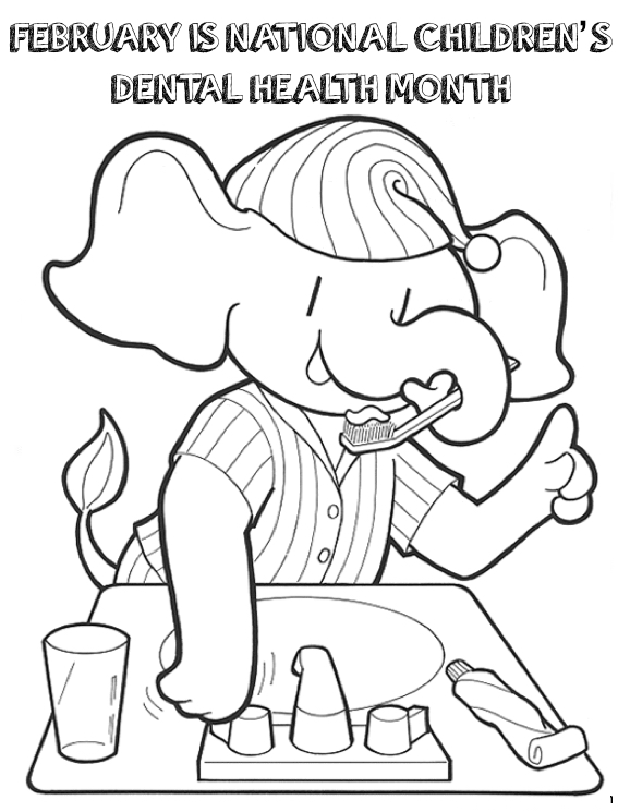 National Children's Dental Health Month Coloring Contest