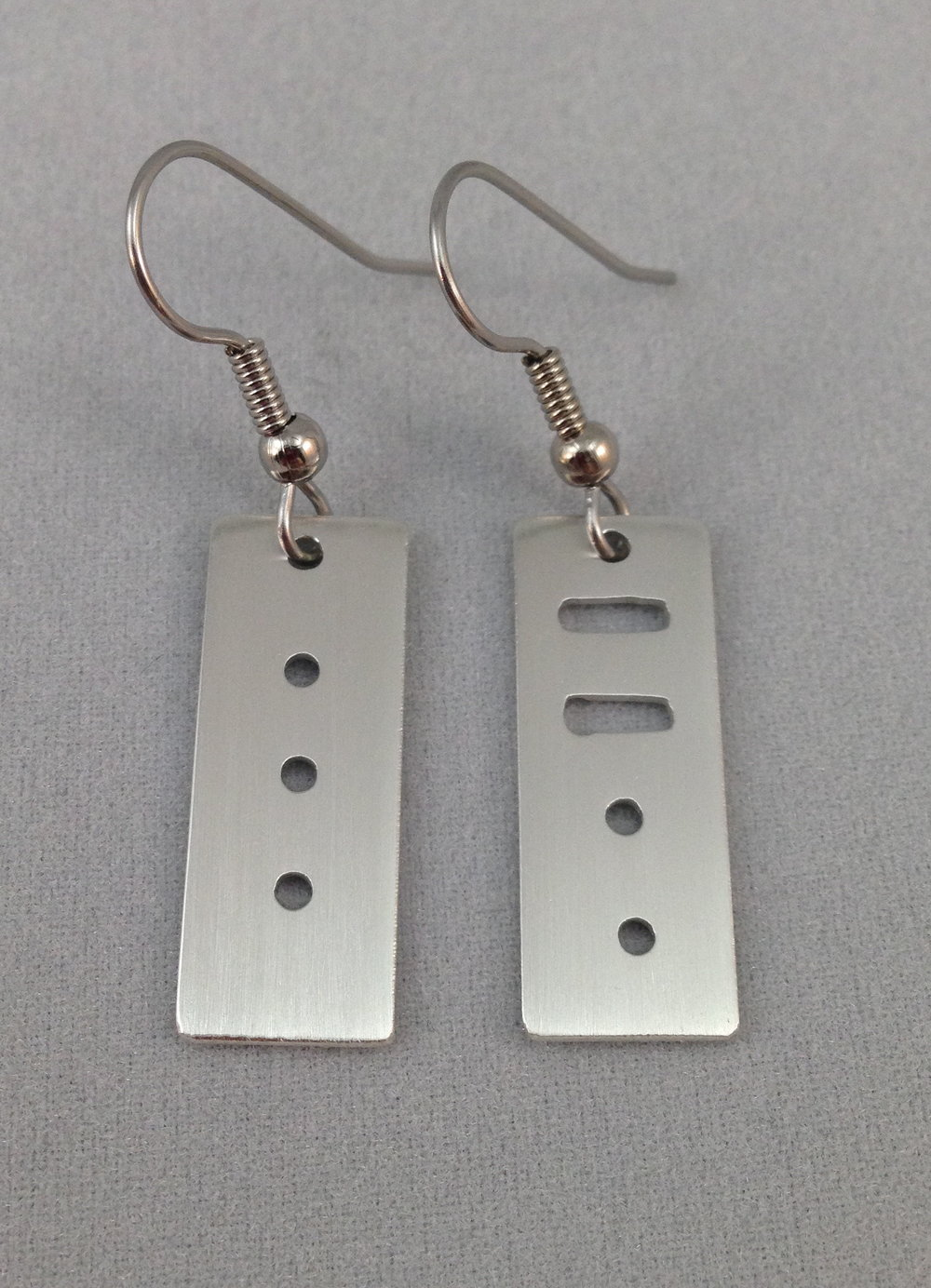 Morse Code Earrings
