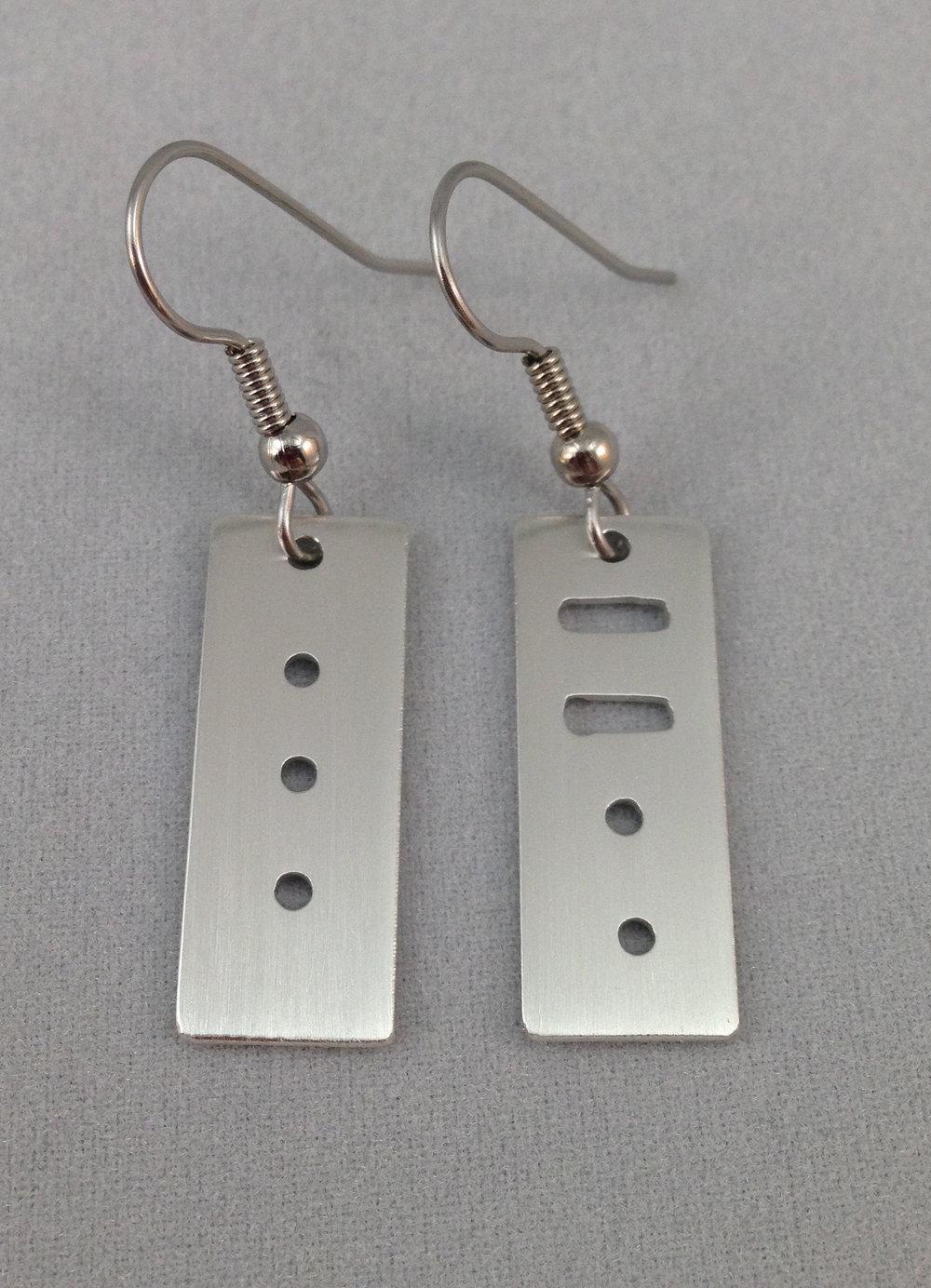 Morse Code Earrings