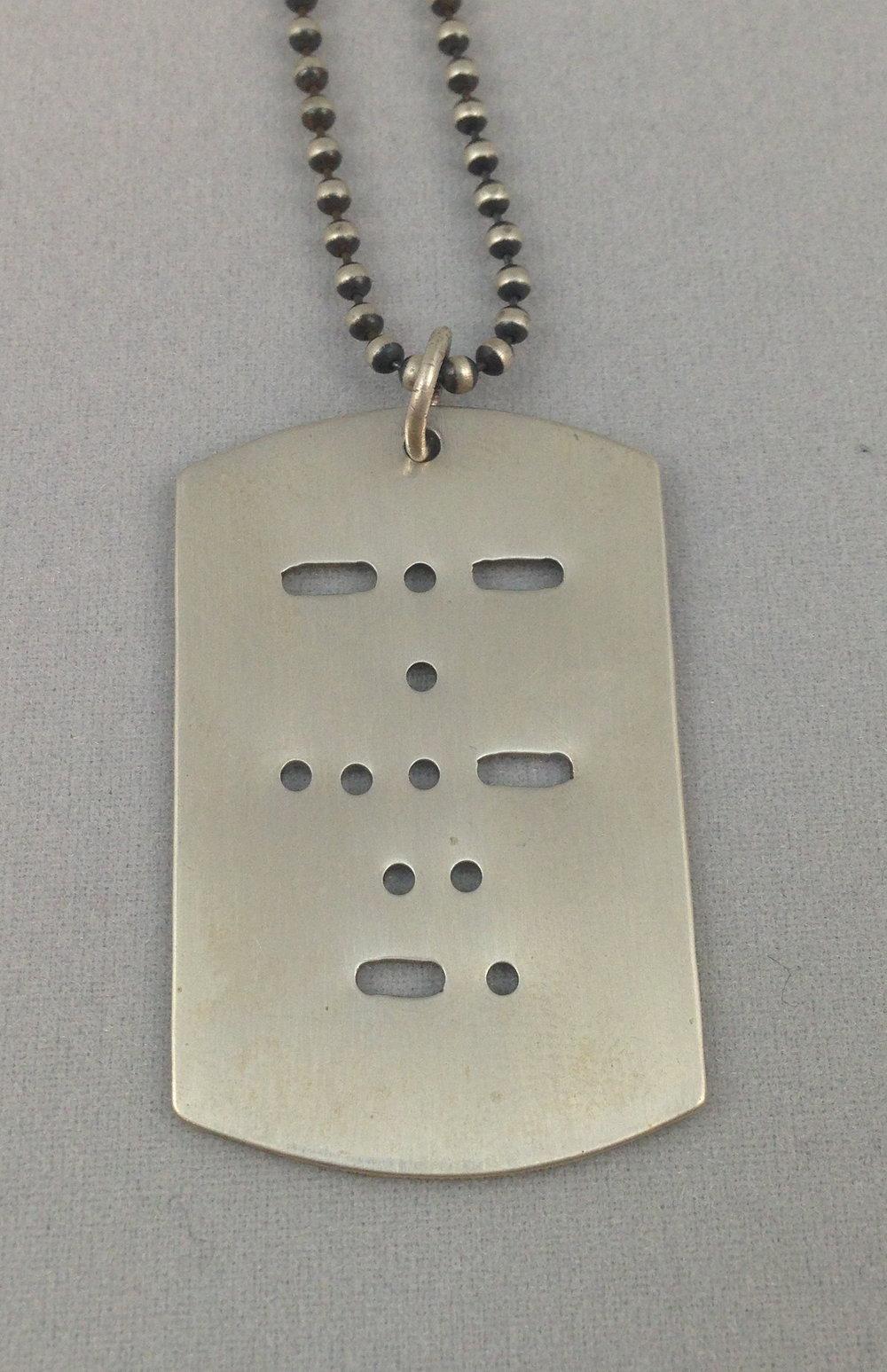 Morse Code Dog Tag