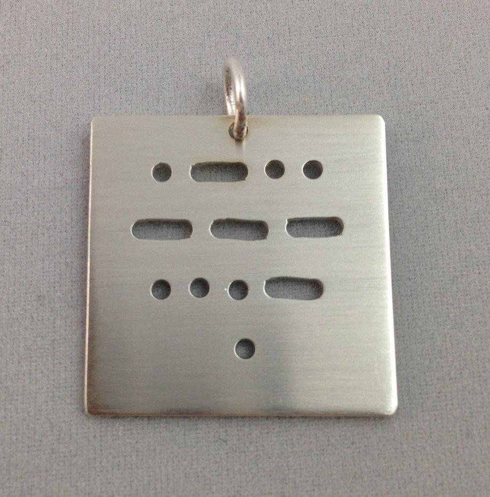 Morse Code Charm
