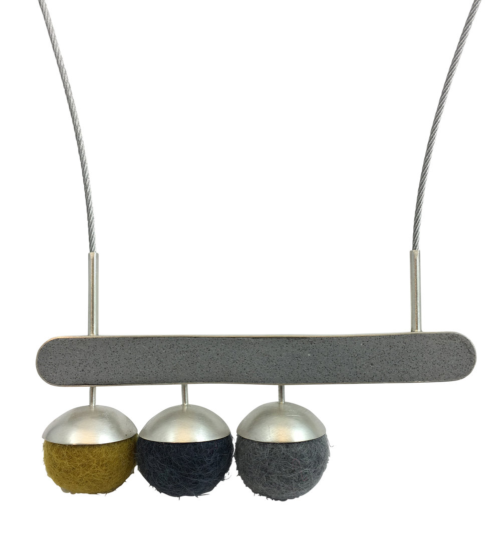 Horizontal Ball Drop Necklace