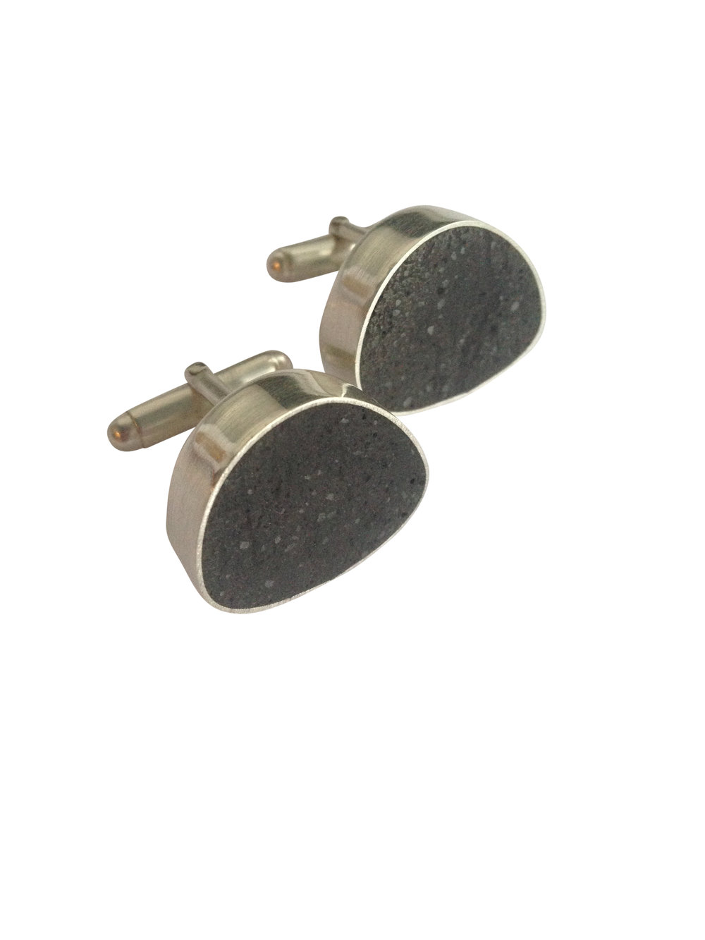 Simple Bean Cuff Links