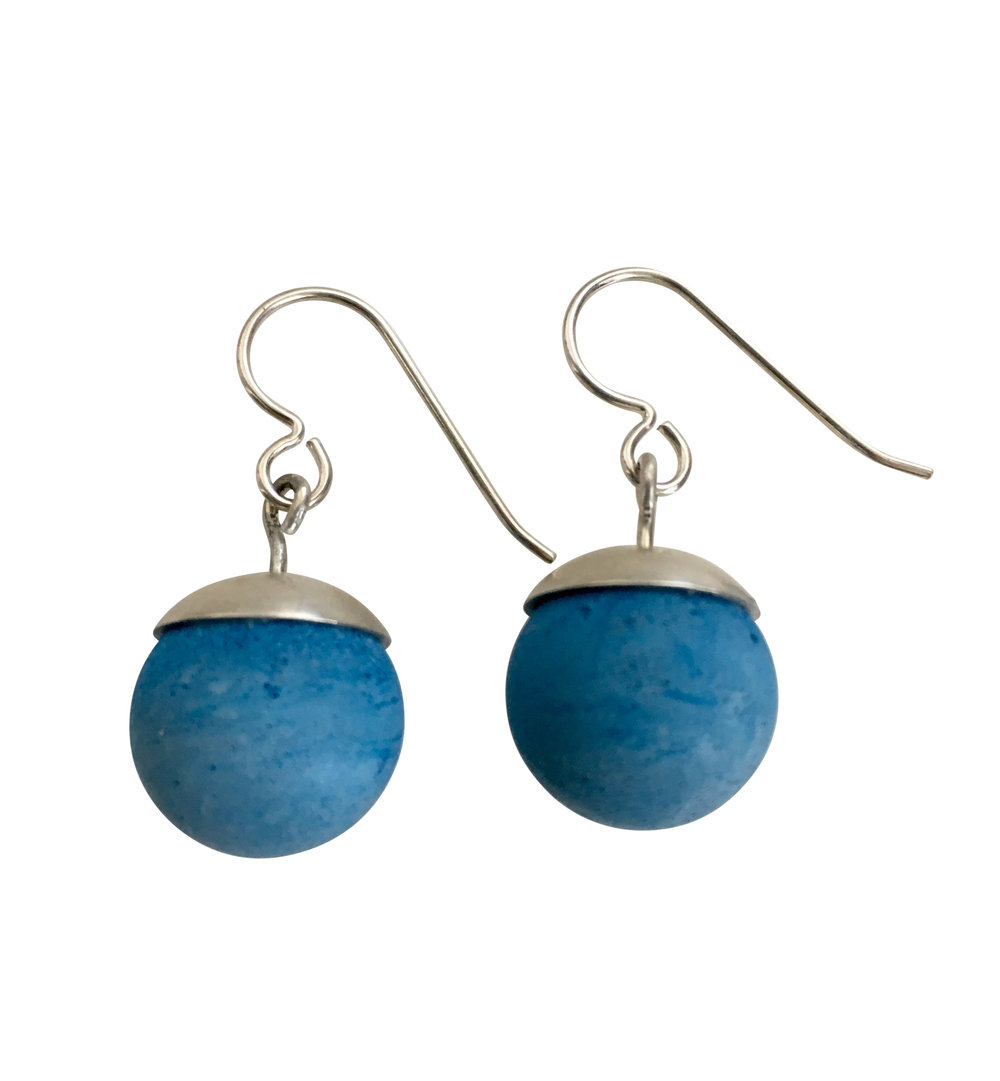 Concrete Ball Earrings