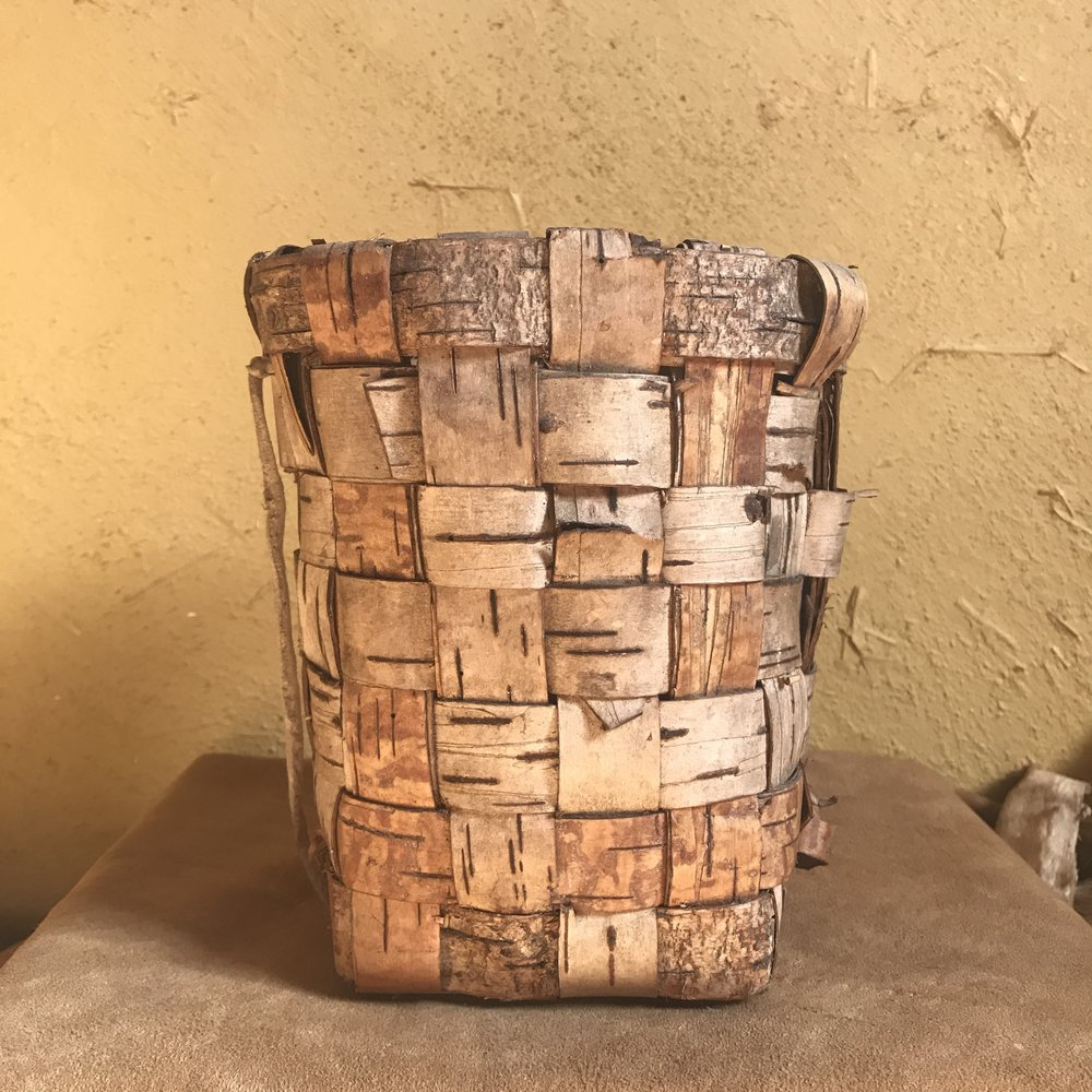 flat weave basket