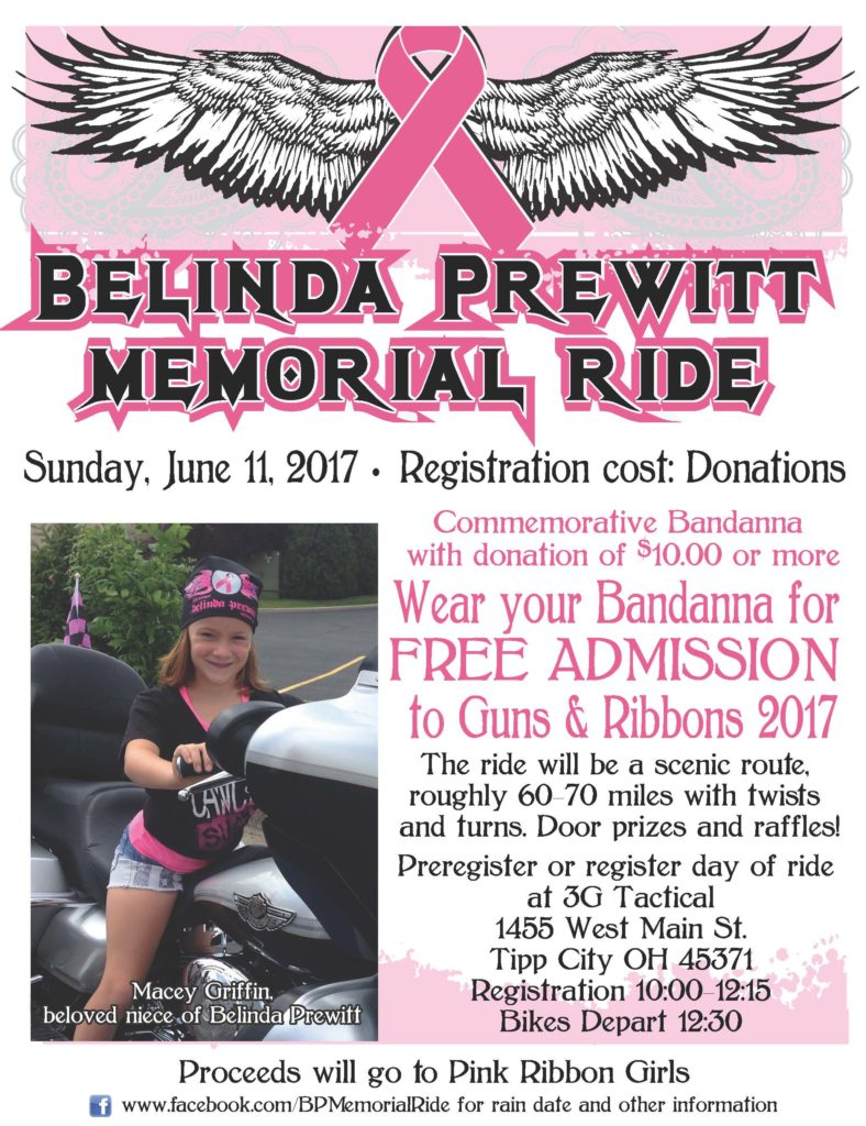 Belinda Prewitt Memorial Ride promotional poster