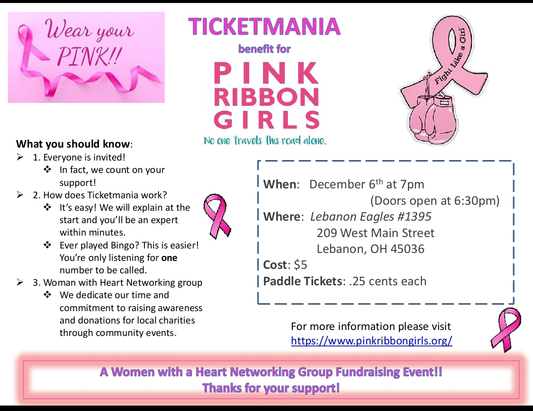 Cincinnati/NKY Area Events — Pink Ribbon Girls