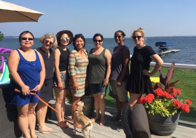 MFRS staff & board members wish Rebecca farewell at  Wabamum, AB this summer.