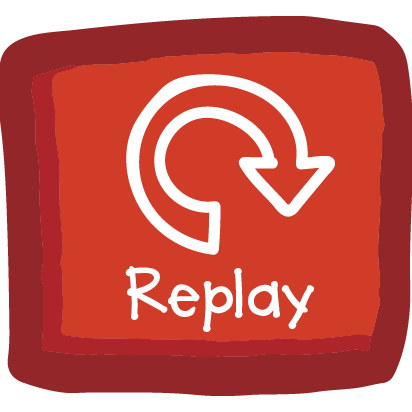 Replay Button - This button will restart the animation on your page. It's a great way to help your little one get some practice with those tough letters, or have fun with their favorite page!