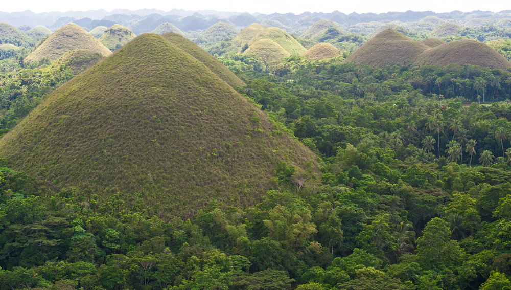 The Chocolate Hills of Bohol.   Image:  © David Astley