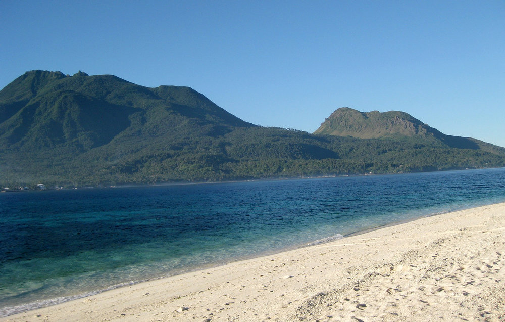 Camiguin Island as seen from White Island.   Image:   Lei Sheldon