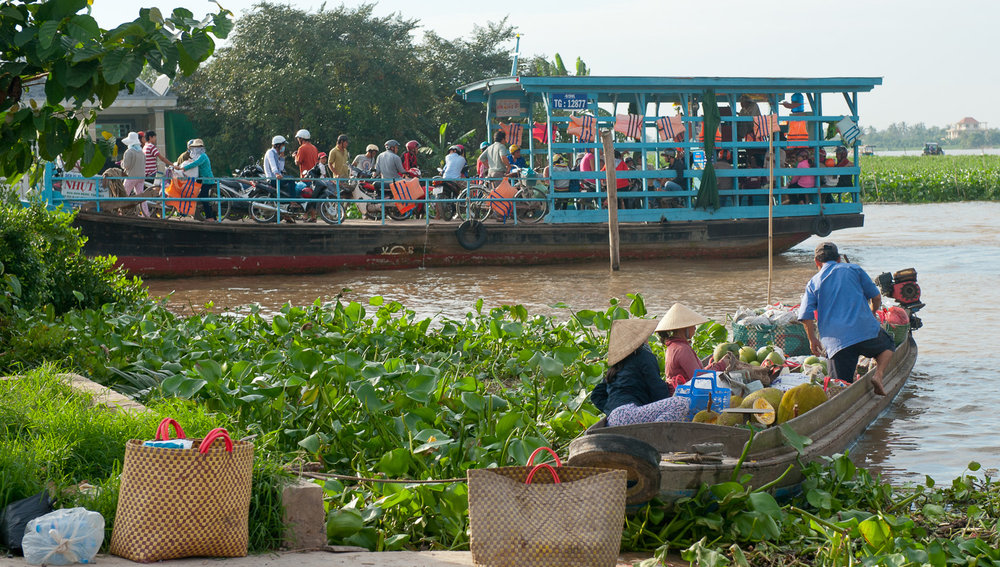 Local ferry transport on the Mekong Delta.   Image:  © David Astley