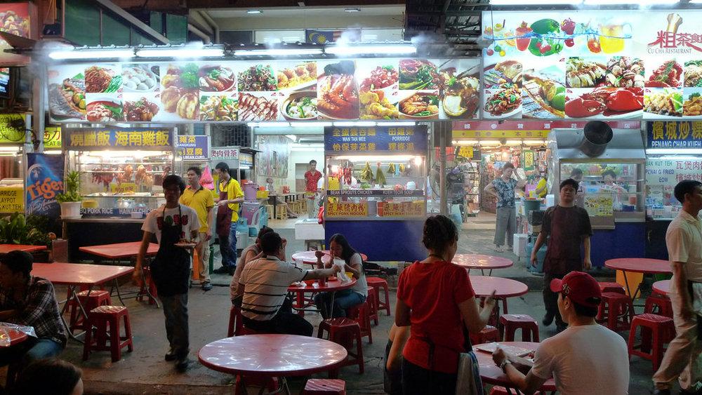 Street food stalls in Jalan Alor, Kuala Lumpur. Image:    John Walker