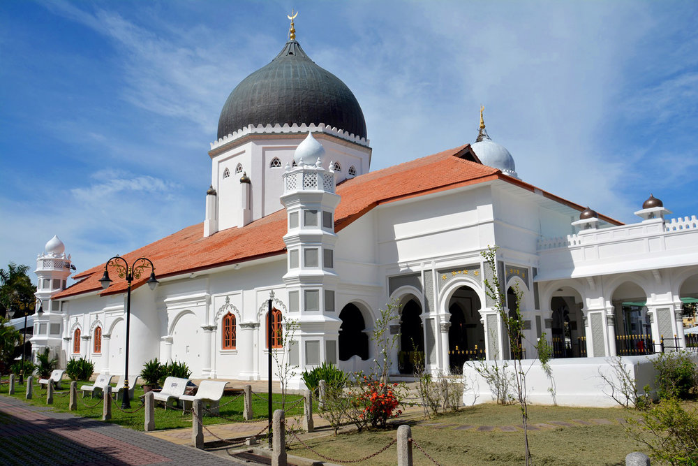 The 19th century Kapitan Keling mosque in Gerogetown, Penang. Image:     Dean Moriarty