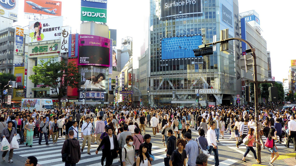 Shibuya is one of the many busy shopping districts in Tokyo. Image:     Jason Goh