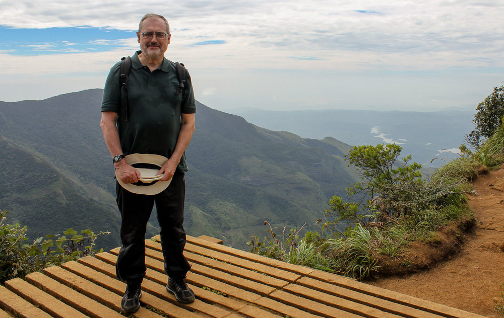 Alan Williams at World's End in Sri Lanka.