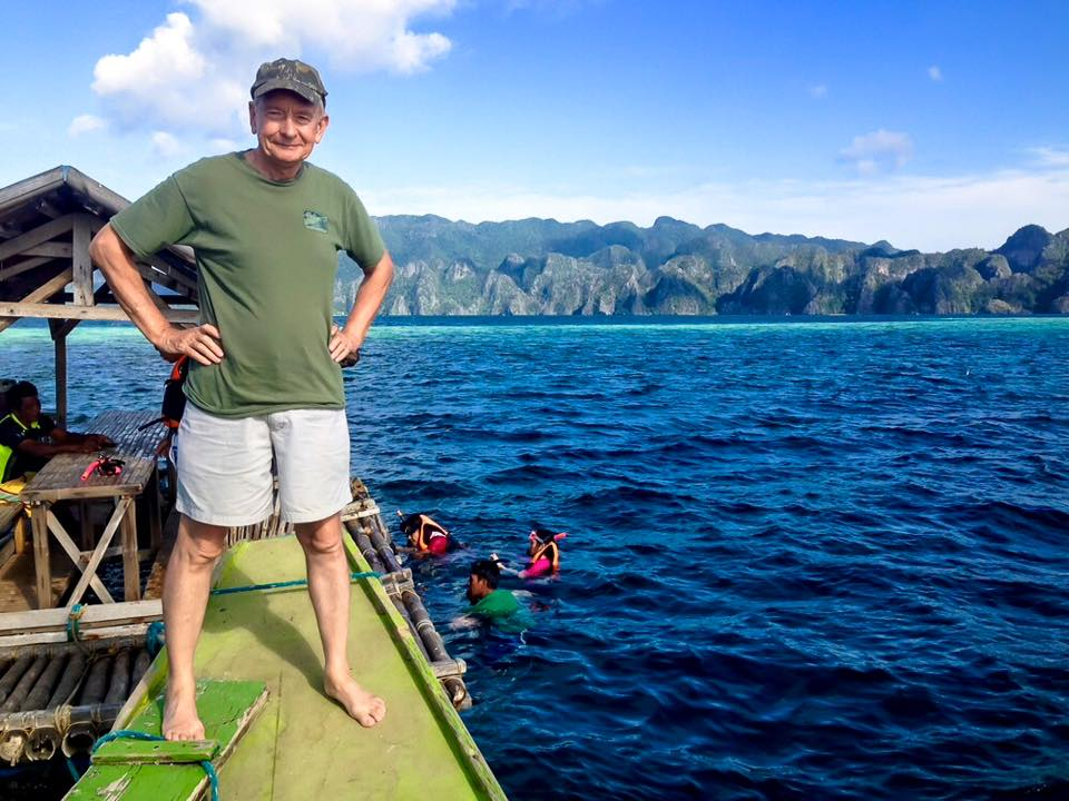David Astley at Coron in the Philippines.