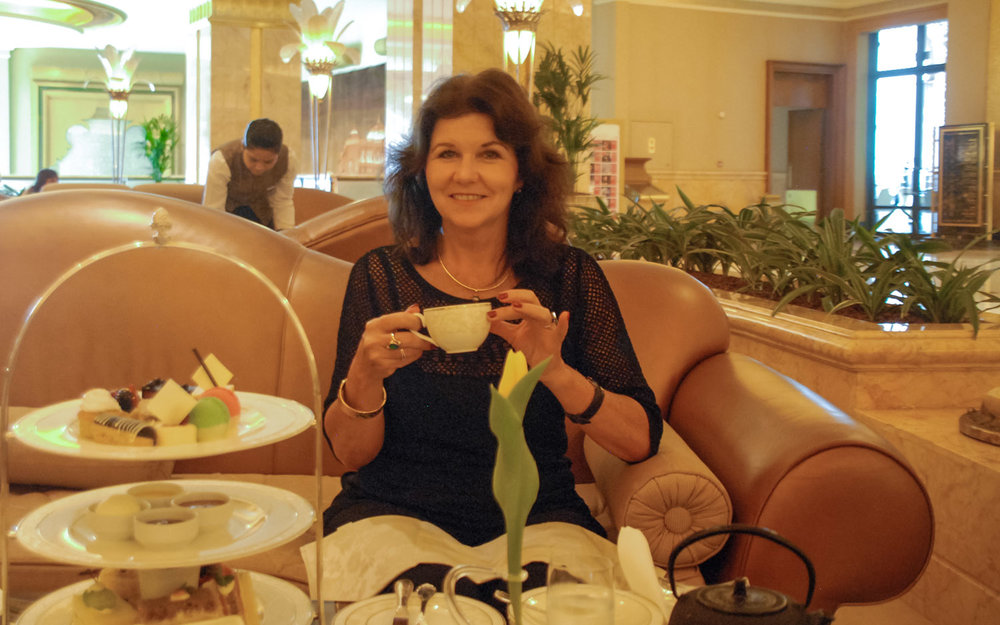 Nannette Holliday at the Emirates Palace in Abu Dhabi.