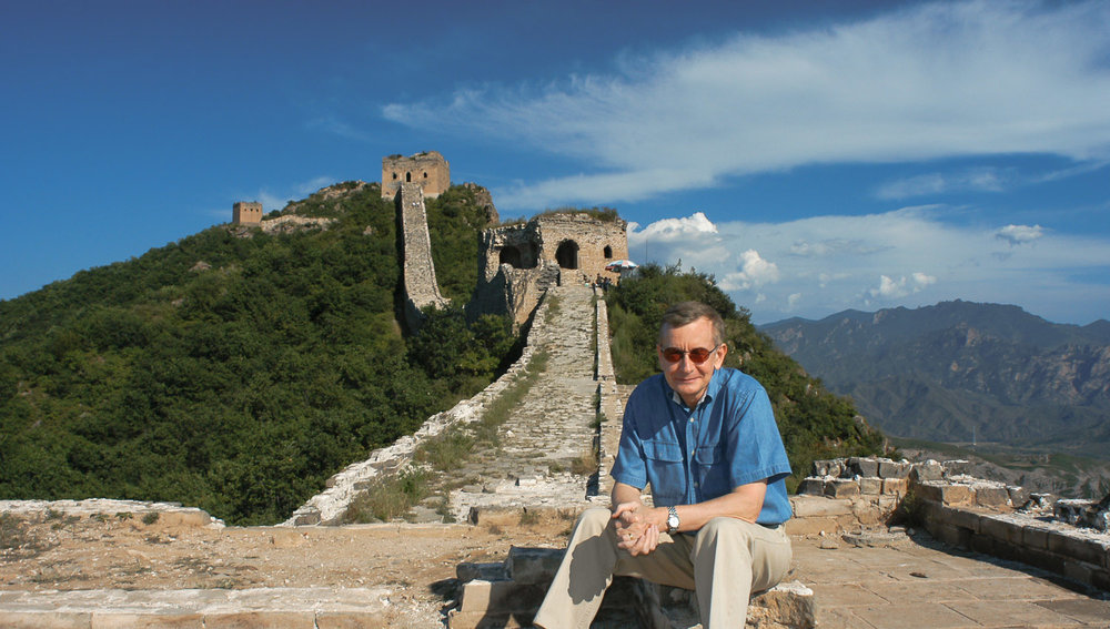 The author on the Simatai section of the Great Wall in 2003. Image:  Cai Jie