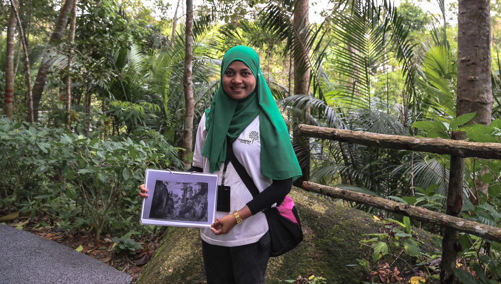 A guide at the Habitat on Penang Hill.   Image:  © Alan Williams