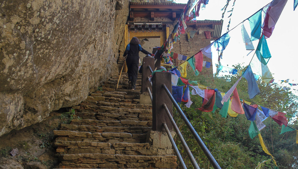 The final few steps to the entrance of the monastery.   Image: © Alan Williams