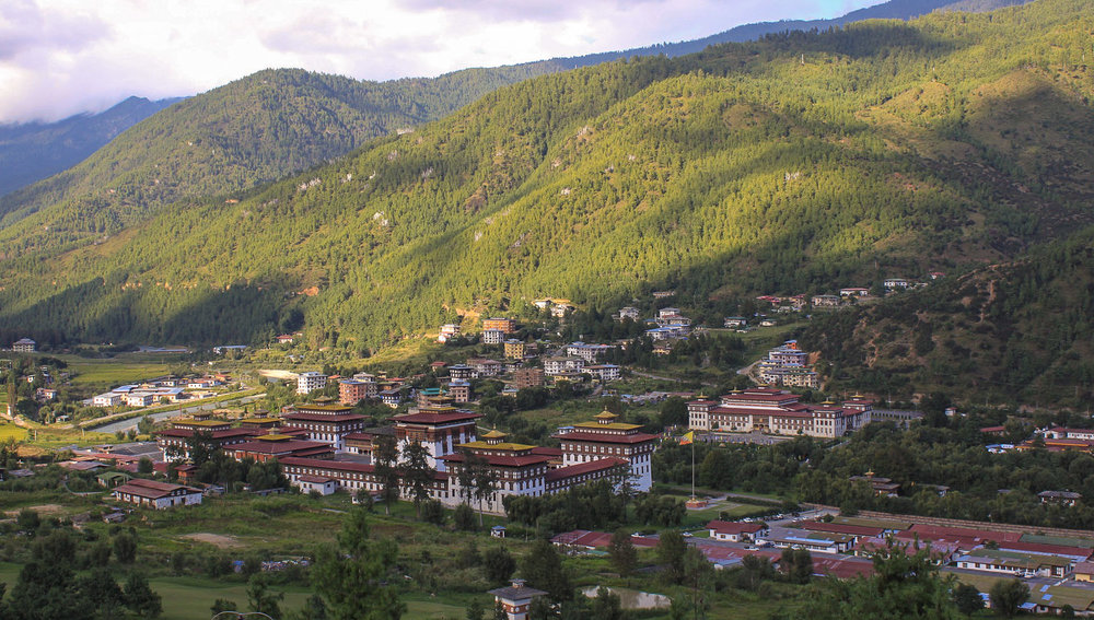 The Thimphu Dzong is Bhutan's seat of government. Image:     Ying Chu Chen