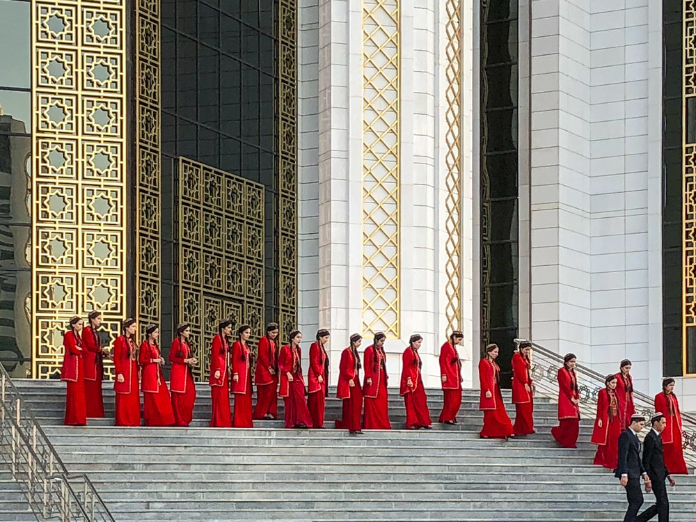 Students at a university in Ashgabat. Image:  © Alan Williams