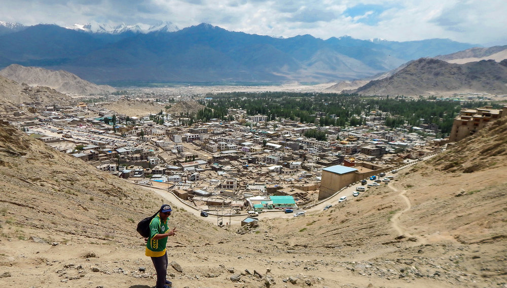 The city of Leh is surrounded by high mountains. Image:  © Manoj Gupta