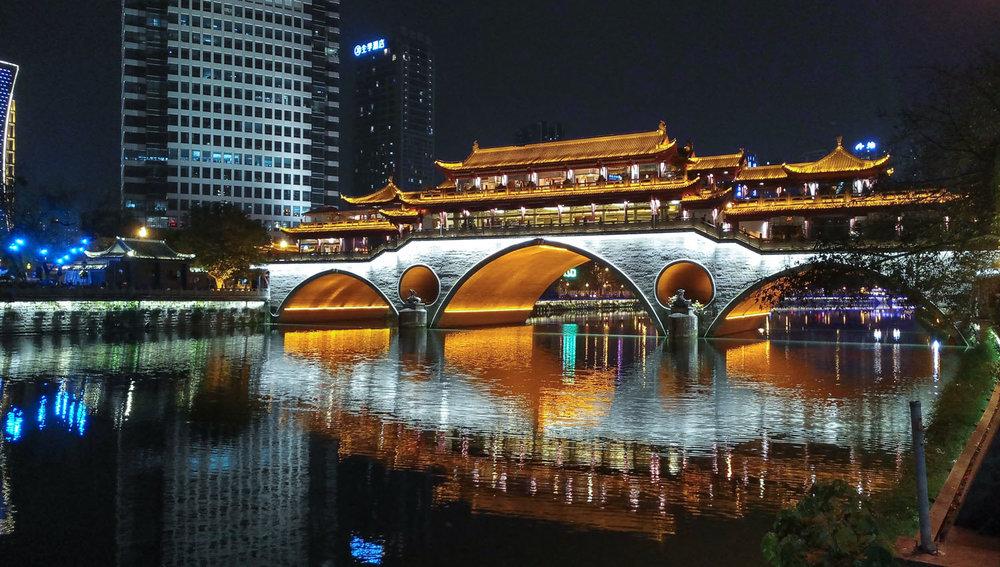 The historic Anshun covered bridge in Chengdu. Image:     bljbkk