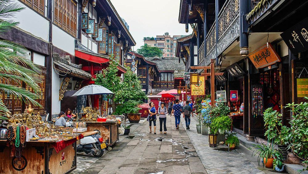 The Wenshu Monastery pedestrian district. Image:  ©    Pixattitude    | Dreamstime