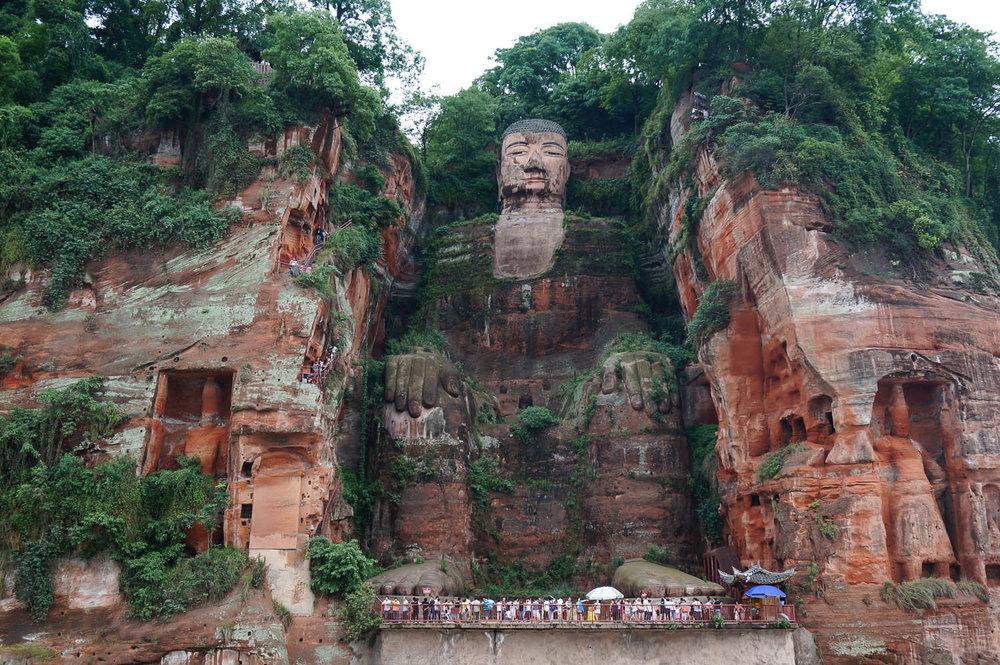 The impressive Leshan Giant Buddha. Image:     fannyss