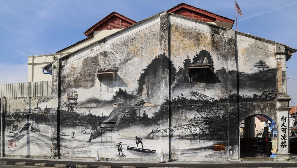 A mural depicting Ipoh's tin mining history. Image:  © Alan Williams