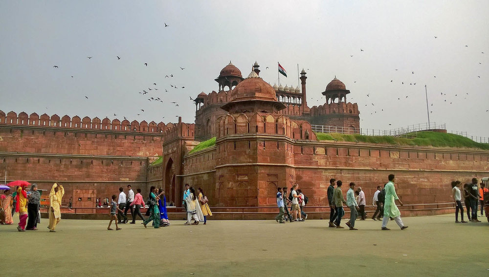 Delhi's Red Fort attracts many visitors. Image:     varasai