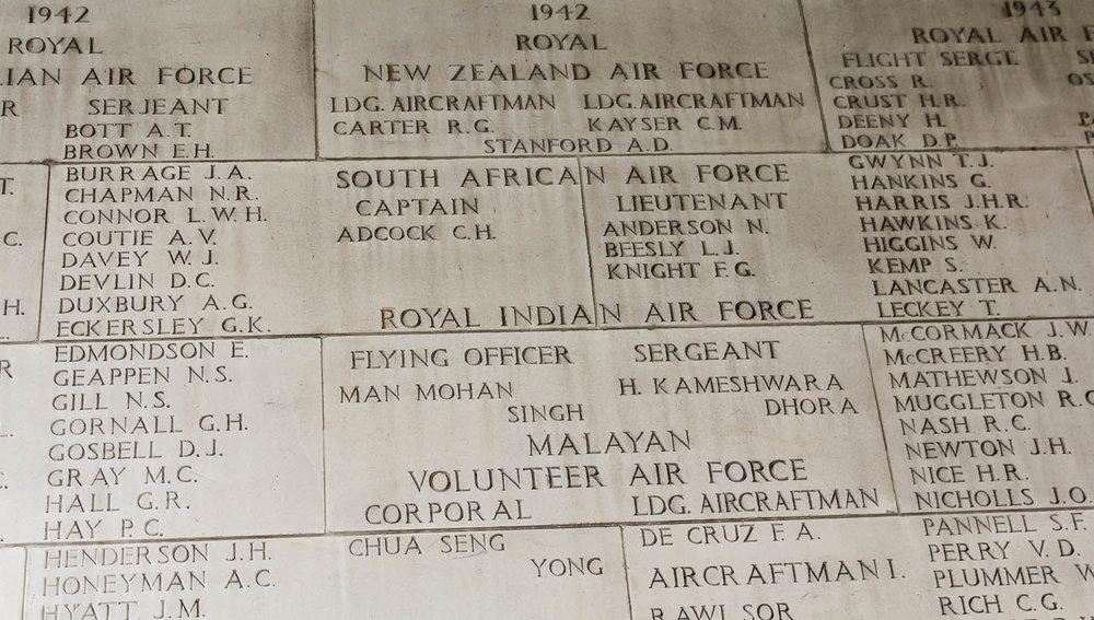 Wall of Remembrance at Kranji War Cemetery. Image:  © Alan Williams